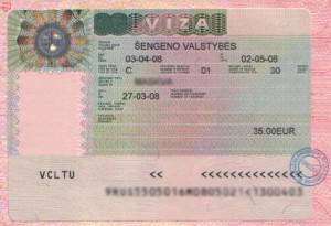 купить визу в литву